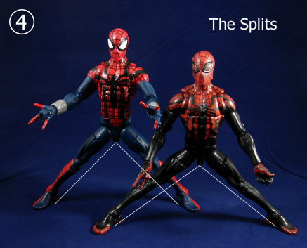 Spidey Comparison The Splits