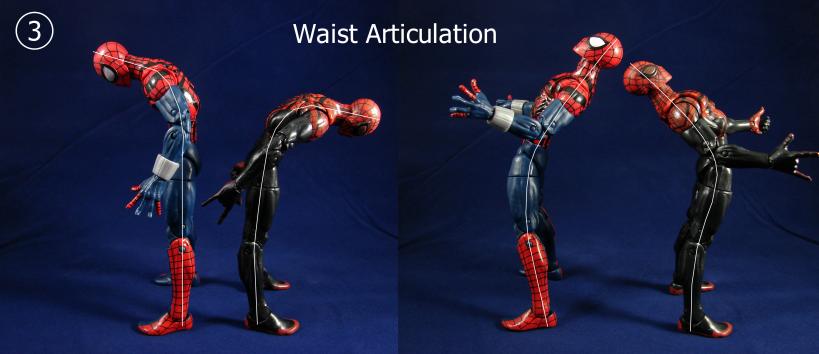 Spidey Comparison Waist Articulation